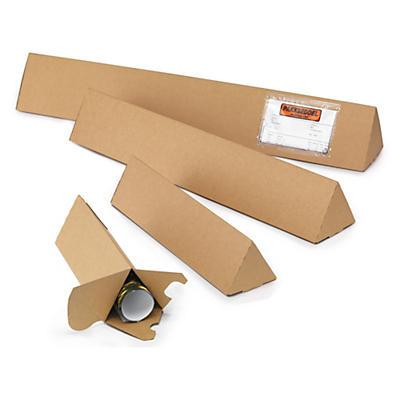 Trekantstuber - Extra stötdämpande ändar med tre lager wellpapp
