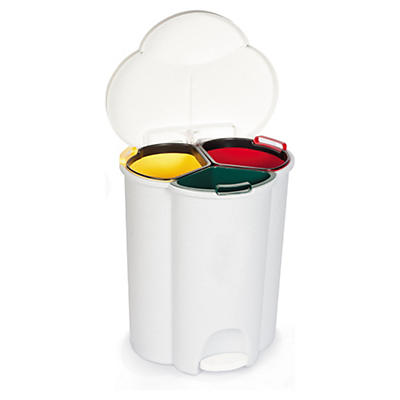 Poubelle à pédale Trio Rubbermaid##Tretmülleimer Trio Rubbermaid