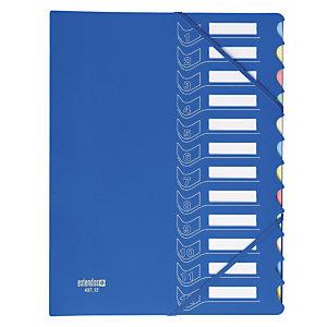 Trieur 12 touches  en polypropylène Extendos coloris bleu foncé