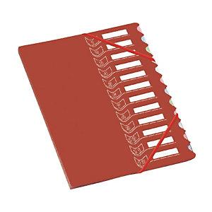 Trieur 12 touches  en polypropylène Extendos coloris rouge