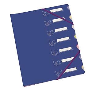 Trieur 7 touches  en polypropylène Extendos coloris bleu foncé