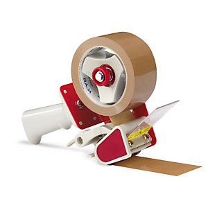 Trigger tape dispensers are ideal for taping up boxes for moving