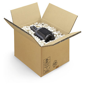 Triple-walled cardboard boxes offer a sturdy way to ship heavy items