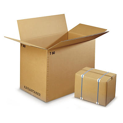 Triple wall cardboard loading cases