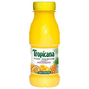 TROPICANA 12 bouteilles Pure Premium® Jus multifruits - bouteille PET de 25 cl