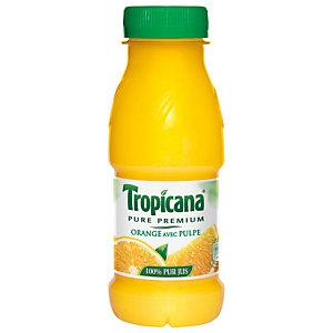 TROPICANA 12 bouteilles Pure Premium® Jus d'orange avec pulpe - bouteille PET de 25 cl