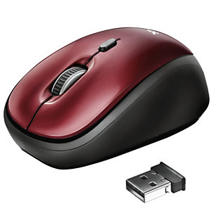 Trust, T yvi wireless mouse -red, 19522