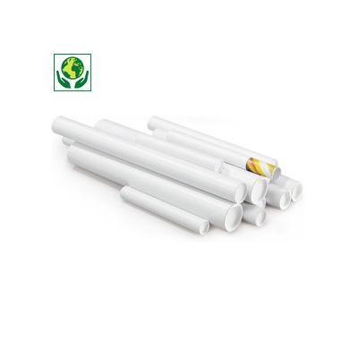 Tube carton rond blanc RAJATUBE