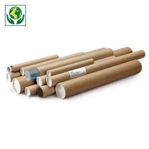 Tube carton rond brun RAJA