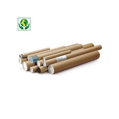 Tube carton rond brun RAJATUBE