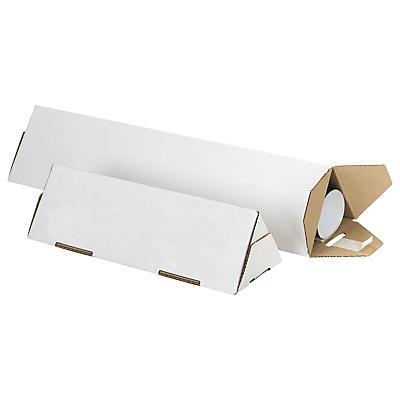 Tube carton triangulaire blanc Tripack##Versandverpackung Tripack, weiss