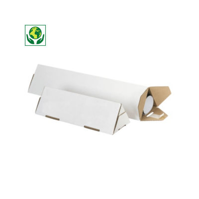 Tube carton triangulaire Triopac blanc