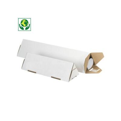 Tube carton triangulaire Triopac blanc##Witte driehoekskoker Triopac