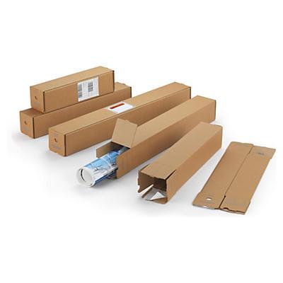 Tube postal en carton Quattropac##Versandverpackung Quattropack, braun