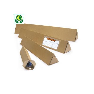 Tubo de envio triangular Triopac castanho