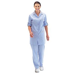 Tunique femme bleu ciel à manches réglables, taille 40/42