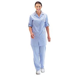 Tunique femme bleu ciel à manches réglables, taille 44/46