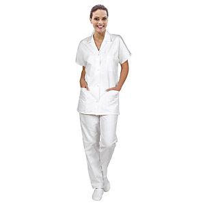 Tunique femme pour milieu hospitalier, manches courtes, taille 48/50