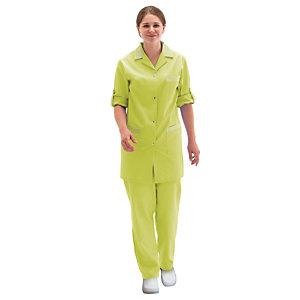 Tunique femme vert anis à manches réglables, taille 40/42