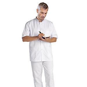 Tunique homme pour milieu hospitalier, manches courtes, taille 40/42