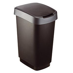 Twist vuilnisbak 25 L zwart/antraciet
