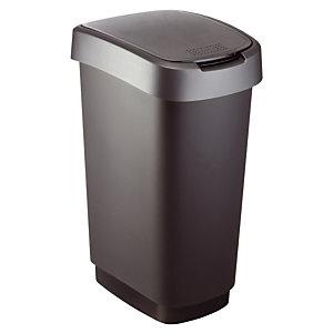 Twist vuilnisbak 50 L zwart/antraciet
