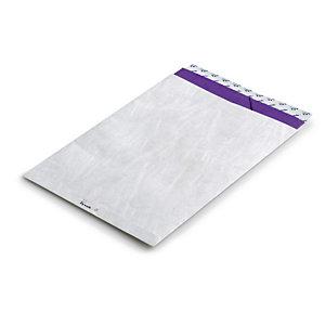 TYVEK 20 enveloppes commerciales, papier Tyvek®, DuPont Tyvek, format international B4, 353 x 250 mm, bande auto-adhésive, blanc