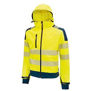 U-Power Giacca alta visibilitA' Softshell Miky - taglia L - giallo fluo - U-Power