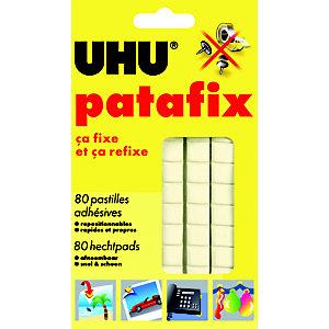 Uhu Pastilles adhésives Patafix détachables et repositionnable blanches - Etui de 80