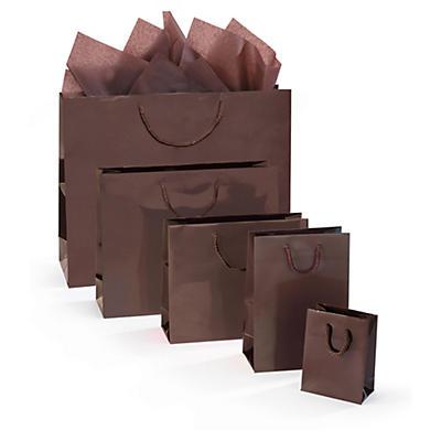 Uitverkoop: Chocoladekleurige Lakpapieren draagtas
