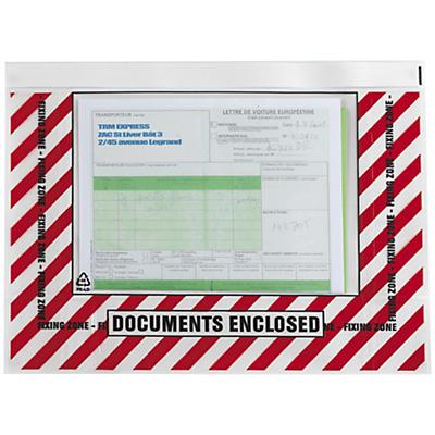 Déstockage : pochette spécial export à fermeture repositionnable##Uitverkoop: herkleefbare documentenhoesjes voor export