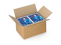 Uitverkoop: Kartonnen dozen in enkelgolfkarton van 40 tot 50 cm
