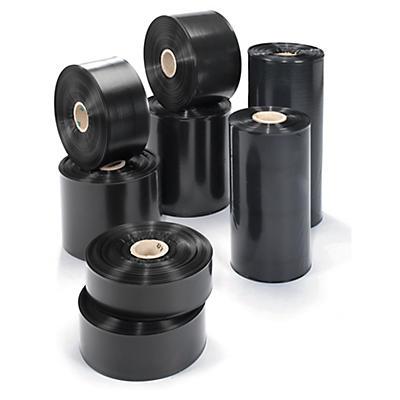 Déstockage : Gaine noire opaque 100 microns thermosoudable##Uitverkoop: Ondoorzichtige buisfolie op rol van polyethyleen