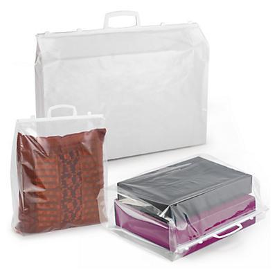Déstockage : Sac plastique à poignées rigides##Uitverkoop: Plastic draagtas met druksluiting