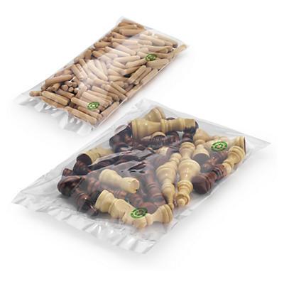 Sachet plastique écologique 50 microns##Umweltfreundliche Flachbeutel 50 µ