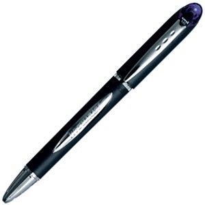 Uni-Ball Jetstream™ Penna a sfera Stick, Punta media da 1 mm, Fusto nero con grip, Inchiostro nero