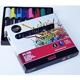 Uni Uni Posca PC-5M Marcador de pintura, punta ojival, 1,8-2,5 mm, colores surtidos
