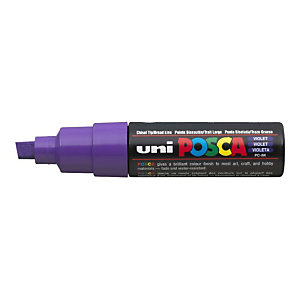 Uni Uni Posca PC-8K Marcador de pintura, punta biselada, 8 mm, Violeta