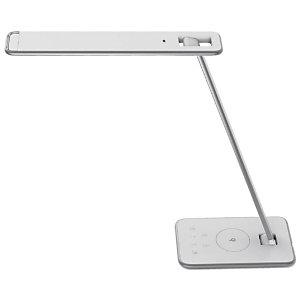 Unilux Jazz Lampada da tavolo LED, Grigio metallizzato