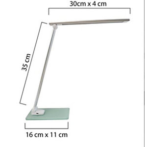 Unilux Lampe de bureau LED Popy, Puissance 5W, Durée 50 000h, Gris Métal