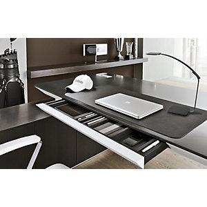 Unilux Lampe de bureau LED Timelight Puissance 6,5W Durée 50 000h Port USB et chargeur à induction Noir