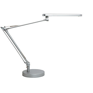 Unilux Mambo Flexo LED, aluminio y ABS, gris metalizado