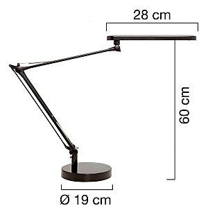 Unilux Mambo Lampada da scrivania a LED, Alluminio e ABS, Grigio metallo