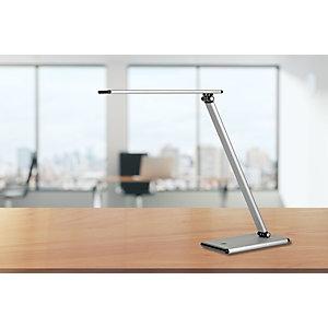Unilux Terra Flexo LED, aluminio y ABS, plata y negro
