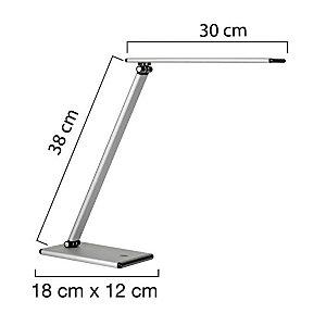 Unilux Terra Lampada LED da tavolo, Metallo, Grigio/Nero