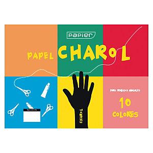 UNIPAPEL Bloc de manualidades, 32 x 25 cm, papel charol en colores surtidos