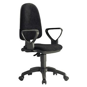 UNISIT Basicline Silla de oficina, tela, altura 95-107 cm, negro