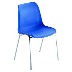 UNISIT Shell Silla de reunión, apilable, estructura metálica, azul