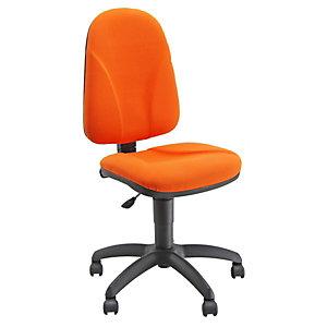 UNISIT Siège de bureau Team - Tissu rembourré - Dossier Abricot - Assise Abricot
