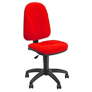 UNISIT Siège de bureau Team - Tissu rembourré - Dossier Rouge - Assise Rouge